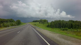 Storm clouds over the Chuysky Trakt. In the Altai Mountains stock video