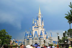 Storm Clouds over Cinderella's Castle Royalty Free Stock Photos