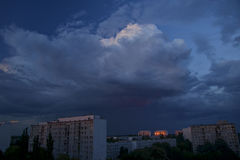 Storm clouds over the city Stock Image