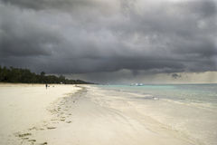Storm clouds over Diani beach Royalty Free Stock Image
