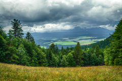 Storm clouds over the forest. Pieniny, Poland Royalty Free Stock Photography