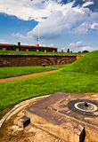 Storm clouds over Fort McHenry, Baltimore, Maryland Royalty Free Stock Image