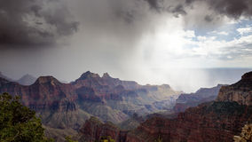 Storm Clouds over Grand Canyon Stock Images