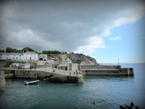 Storm clouds over harbour Royalty Free Stock Images