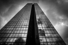 Storm clouds over the John Hancock Building, in Boston, Massachu Stock Images