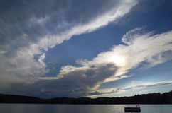 Storm Clouds over Lake Stock Photos