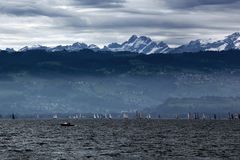 Storm clouds over Lake Constance Stock Image