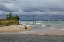Storm Clouds over Lake Michigan Royalty Free Stock Images