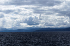 Storm Clouds Over Lake Tahoe California And Mountains Royalty Free Stock Image