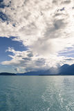 Storm clouds over the Lynn Canal Stock Image