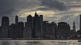 Storm Clouds over Manhattan Stock Images