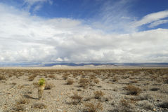 Storm clouds over Mojave Desert Stock Photos
