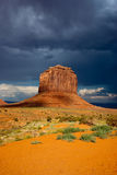 Dark day at Monument Valley Royalty Free Stock Photography