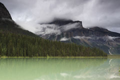 Storm clouds over mountain lake Royalty Free Stock Photo