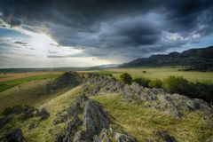 Storm clouds over the mountains. Royalty Free Stock Photo