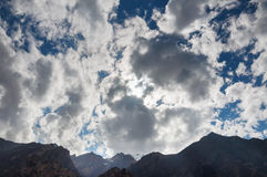 The storm clouds over the mountains Royalty Free Stock Images