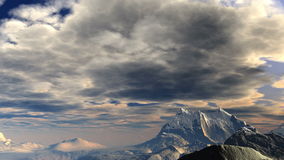 Storm clouds over the mountains. stock footage