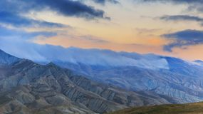Storm clouds over the mountains Royalty Free Stock Photography
