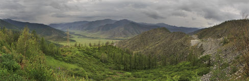 Storm clouds over North Chuya ridge of Altai Royalty Free Stock Photography