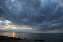 Storm clouds over ocean Stock Image