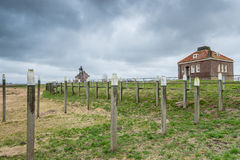 Storm clouds over the old port of schokland, Netherlands Stock Images