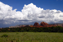 Storm Clouds Over Red Rock Canyon Stock Photography