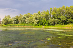 Storm clouds over river Dnieper Royalty Free Stock Photography