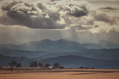Storm Clouds Over the Rockies Royalty Free Stock Image