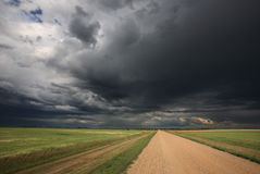 Storm clouds over Saskatchewan. Canada royalty free stock photography
