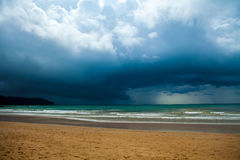 Storm clouds over the sea Royalty Free Stock Photo