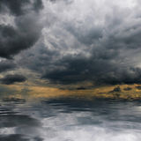 Storm clouds over sea Stock Image
