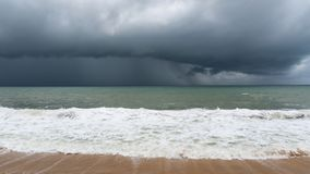 Storm clouds over sea in phuket thailand. Stock Photos