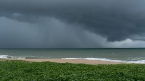 Storm clouds over sea in phuket thailand. Royalty Free Stock Images