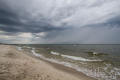 Storm clouds over the sea. Stormy weather at the seaside Royalty Free Stock Image