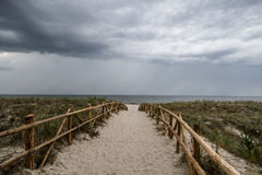 Storm clouds over the sea. Stormy weather at the seaside Royalty Free Stock Photos