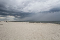 Storm clouds over the sea. Stormy weather at the seaside Royalty Free Stock Images