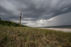 Storm clouds over the sea Royalty Free Stock Image