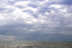 Storm clouds over the sea Stock Photo
