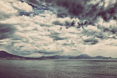 Storm clouds over the sea Royalty Free Stock Images