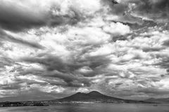 Storm clouds over the sea Stock Images