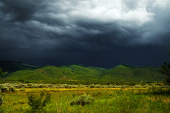 Storm clouds over Taos, New Mexcio Royalty Free Stock Photo
