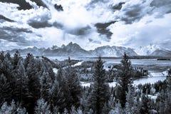 Storm clouds over the Teton Mountain  Range Royalty Free Stock Photos