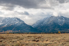 Storm Clouds Over the Tetons Stock Photo