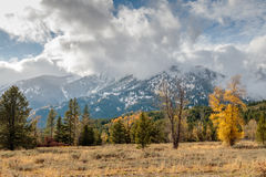 Storm Clouds Over the Tetons Royalty Free Stock Photography