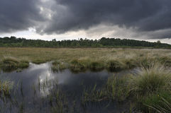 Storm clouds over Thursley Stock Image