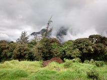 Storm clouds over tungurahua volcano in Banos, Ecaudor Stock Photo