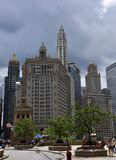 Storm Clouds Over Wacker Drive Royalty Free Stock Photography