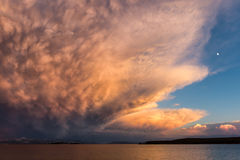 Storm clouds over Yellowstone Lake Stock Images
