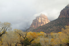 Storm clouds over Zion National Park in Utah Stock Image