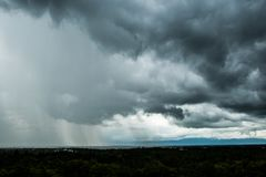 Storm clouds with the rain. Storm clouds with the rain royalty free stock photography